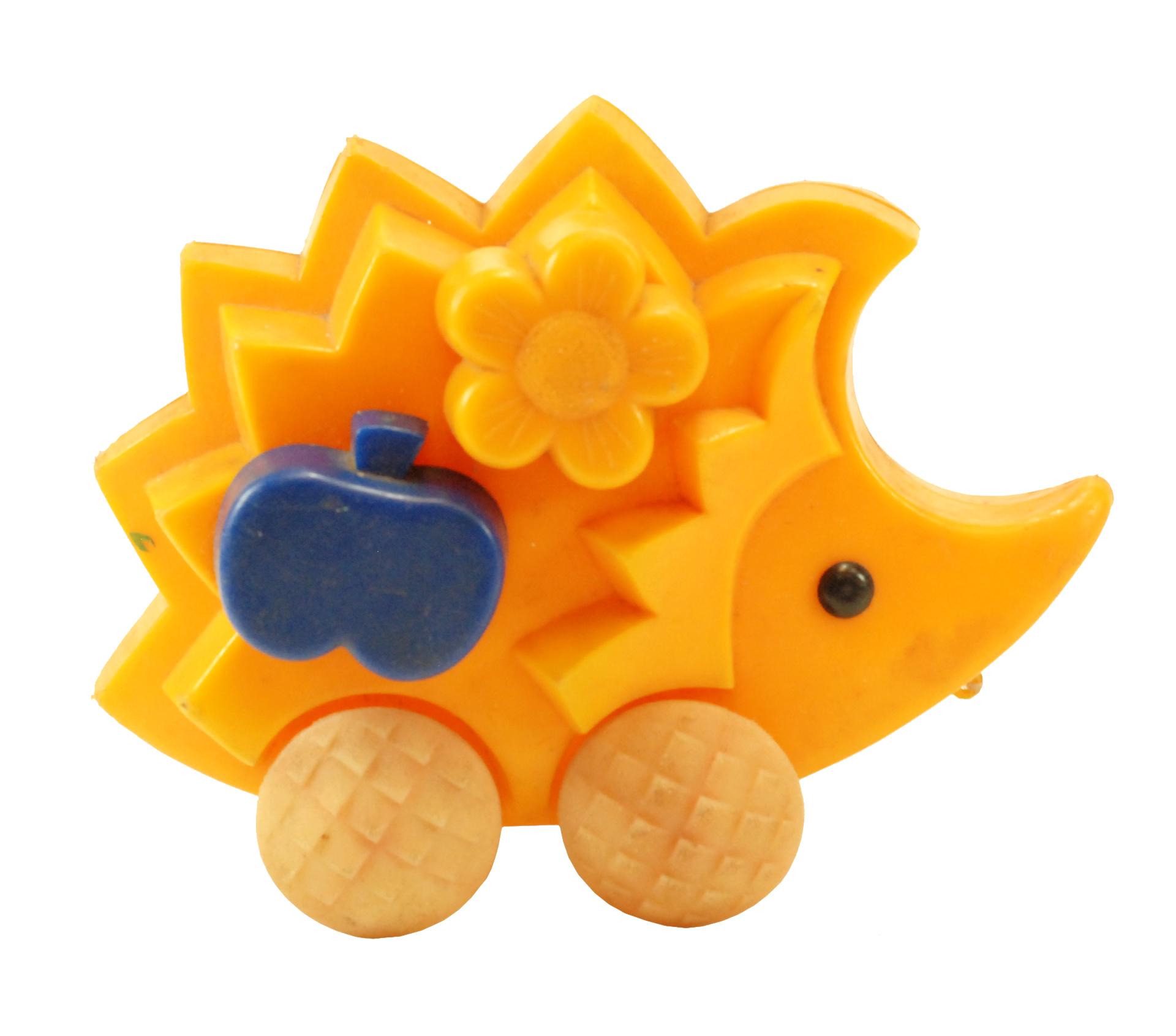 Rugsėjį pasitinkantis tempiamas žaislinis ežiukas